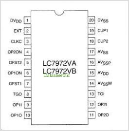 LC7972VA pinout,Pin out