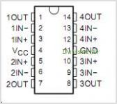 LM2902KAV pinout,Pin out