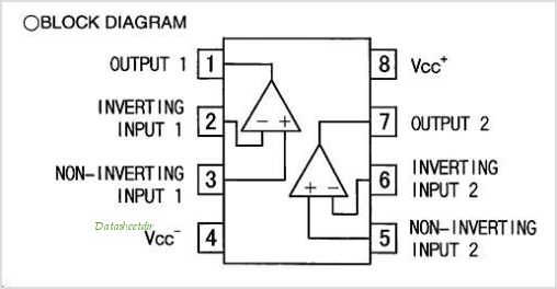 LM358DT pinout,Pin out