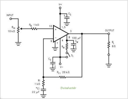 Lm3886 Datasheet on audio amplifier pinout