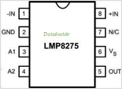 LMP8275 pinout,Pin out