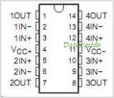 LPV324 pinout,Pin out
