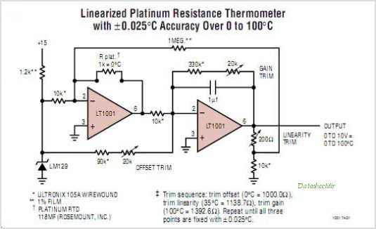 LT1001CS8 circuits
