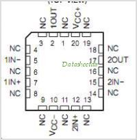 LT1013MFKB pinout,Pin out