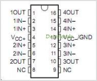 LT1014CNE4 pinout,Pin out