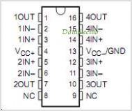 LT1014DN pinout,Pin out