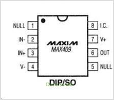 MAX409 pinout,Pin out