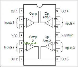 MC3405 pinout,Pin out