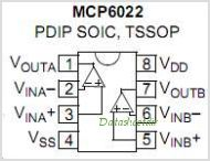 MCP6022 pinout,Pin out