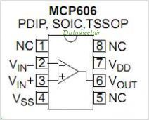 MCP606 pinout,Pin out