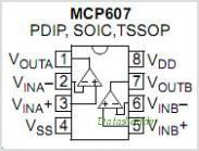 MCP607 pinout,Pin out