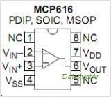 MCP616 pinout,Pin out