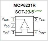MCP6231R pinout,Pin out