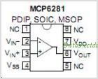 MCP6281 pinout,Pin out