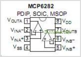 MCP6282 pinout,Pin out