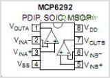 MCP6292-E-SN pinout,Pin out