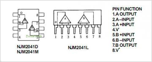 NJM2041L pinout,Pin out