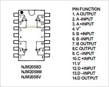 NJM2058D pinout,Pin out