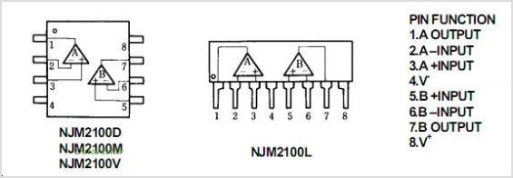 NJM2100 pinout,Pin out