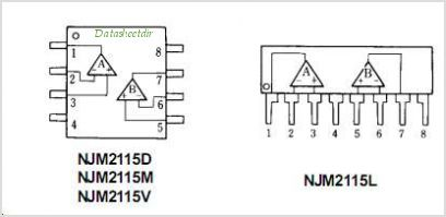 NJM2115M pinout,Pin out
