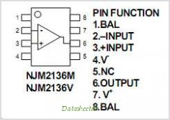 NJM2136 pinout,Pin out