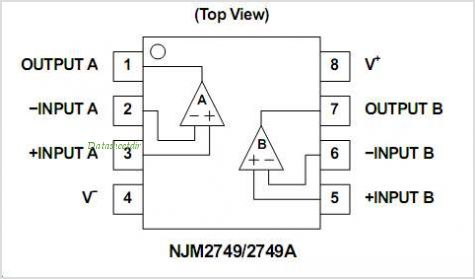 NJM2749M pinout,Pin out