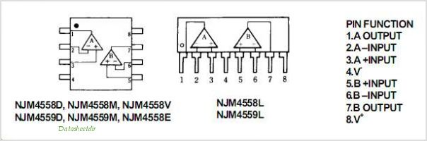 NJM4559D pinout,Pin out