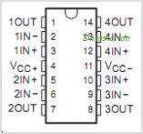 TL084CNSR pinout,Pin out