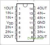 TLC27M4A pinout,Pin out