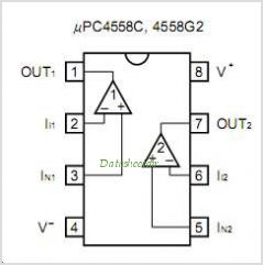 UPC4558 pinout,Pin out