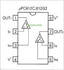 UPC812 pinout,Pin out