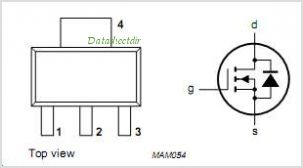 BSP130 pinout,Pin out