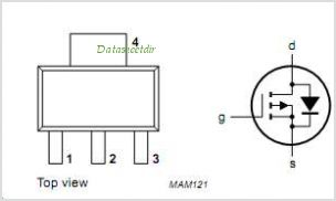 BSP255 pinout,Pin out