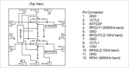 NJG1119PB4 pinout,Pin out