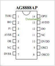 AG8888 pinout,Pin out