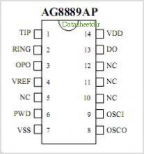 AG8889 pinout,Pin out