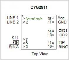 CYG2911 pinout,Pin out