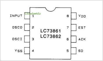 LC73861 pinout,Pin out