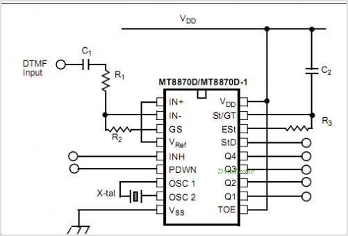 MT8870DN1 circuits