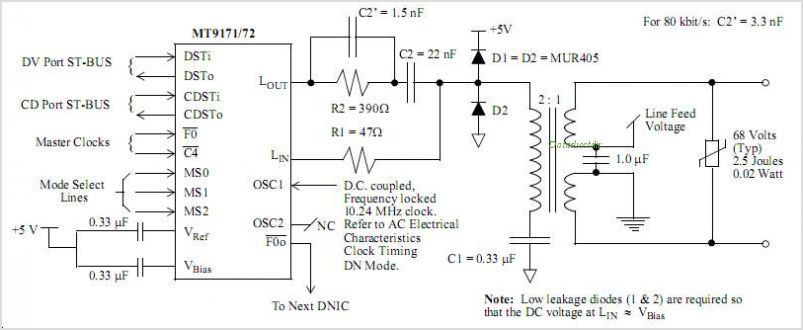 MT9171AE1 circuits