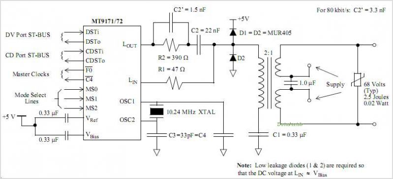 MT9172AN circuits