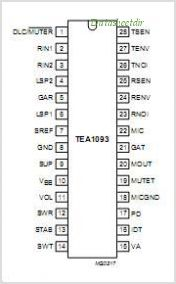 TEA1093 pinout,Pin out