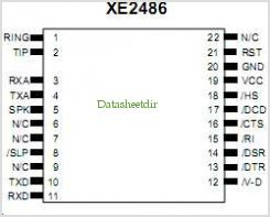XE2486 pinout,Pin out