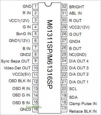 M61311SP pinout,Pin out