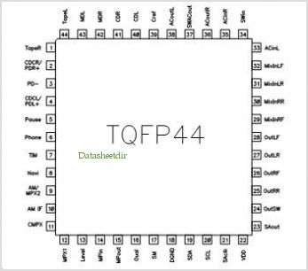 TDA7406 pinout,Pin out