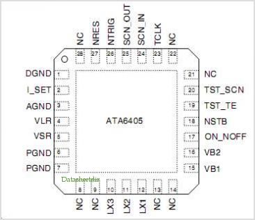 ATA6405 pinout,Pin out