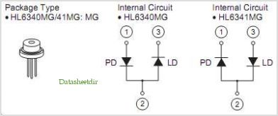 HL6340MG pinout,Pin out