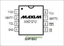 MXD1210 pinout,Pin out
