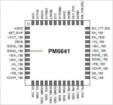 PM6641 pinout,Pin out