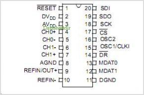 MCP3901 pinout,Pin out